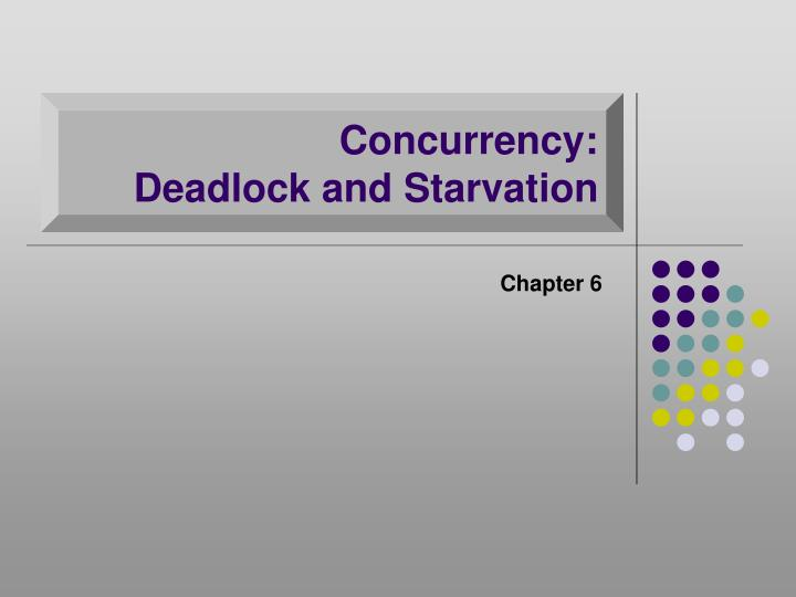 concurrency deadlock and starvation n.