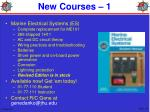 new courses 1