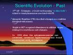 scientific evolution past