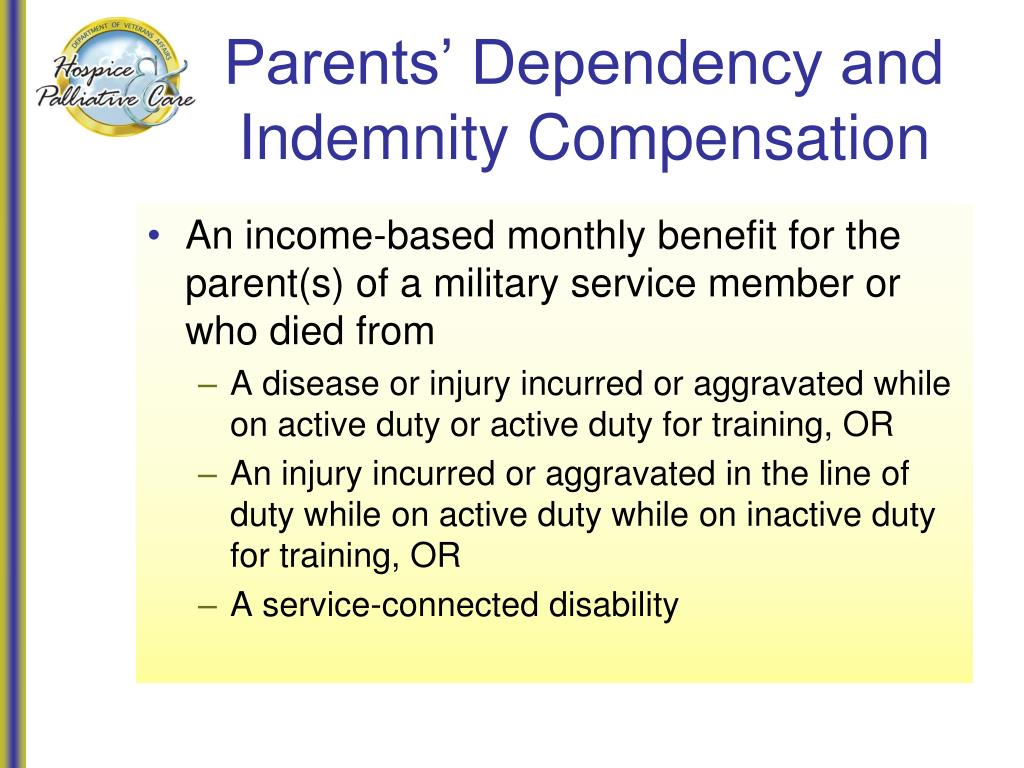 Parents' Dependency and Indemnity Compensation