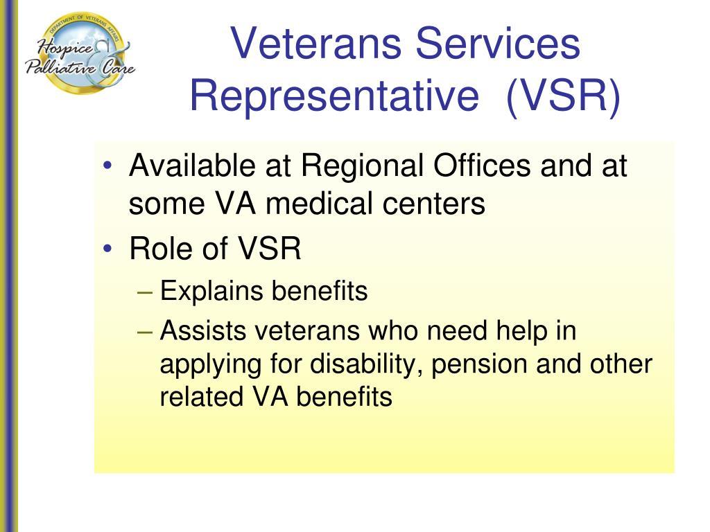 Veterans Services Representative  (VSR)
