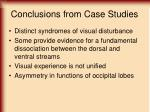 conclusions from case studies