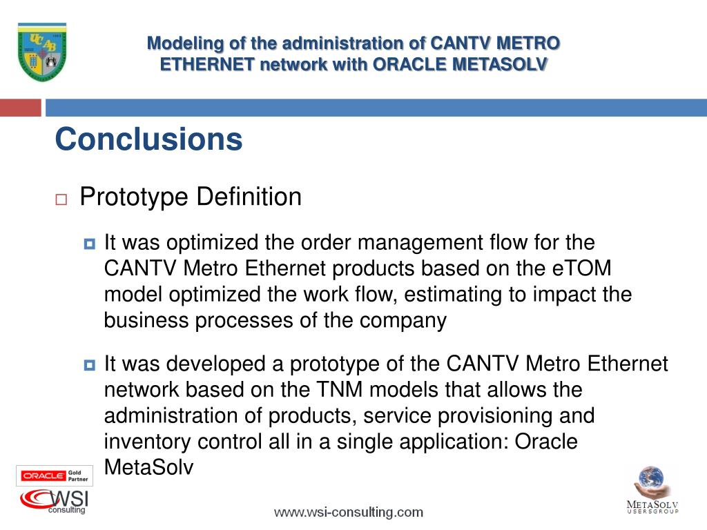 PPT - MODELING OF THE ADMINISTRATION OF CANTV METRO ETHERNET