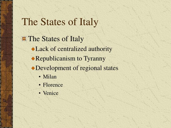 The States of Italy