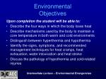 environmental objectives