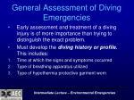 general assessment of diving emergencies