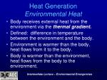 heat generation environmental heat