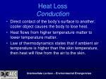 heat loss conduction