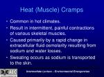 heat muscle cramps