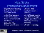heat stroke prehospital management