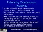 pulmonary overpressure accidents
