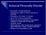 antisocial personality disorder1