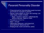 paranoid personality disorder1