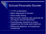 schizoid personality disorder1