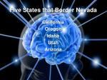 five states that border nevada