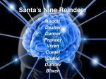 santa s nine reindeer