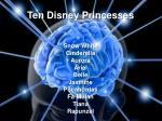 ten disney princesses