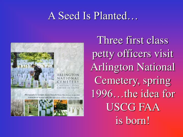 A Seed Is Planted…