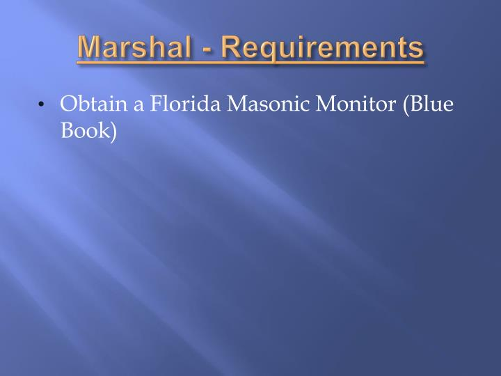 Marshal - Requirements