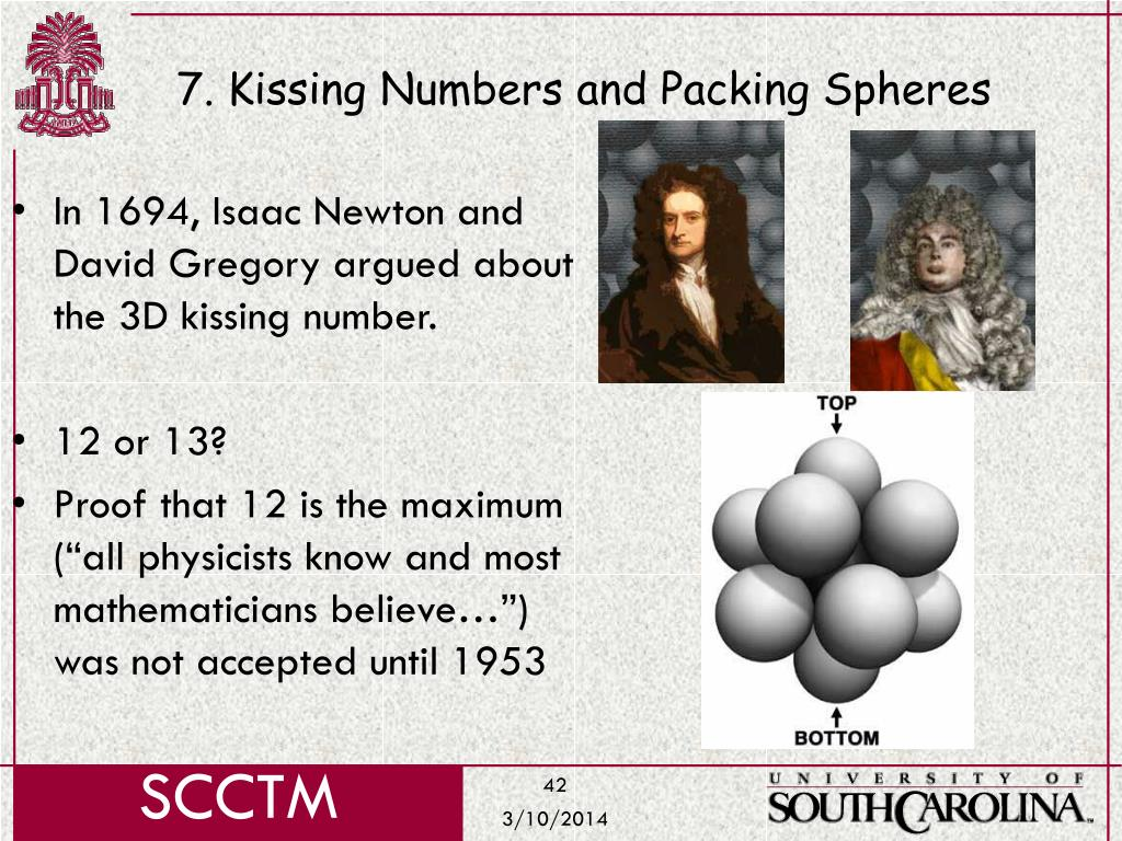 7. Kissing Numbers and Packing Spheres