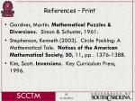 references print