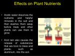 effects on plant nutrients