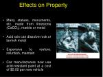 effects on property