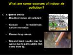 what are some sources of indoor air pollution