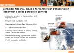 schneider national inc is a north american transportation leader with a broad portfolio of services
