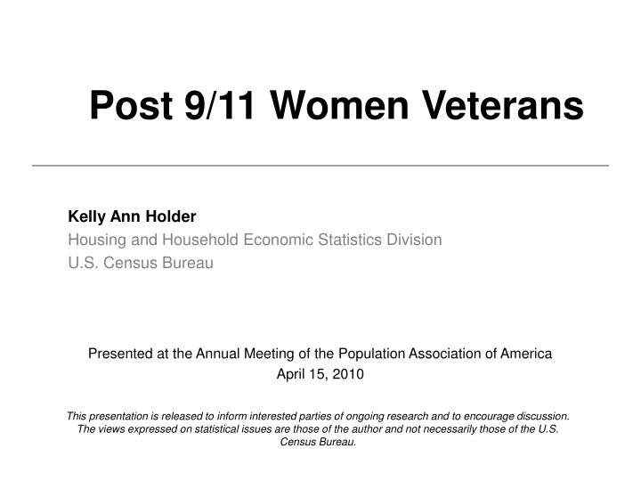 Post 9 11 women veterans