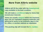 more from alibris website verbatim