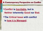 a contemporary perspective on conflict