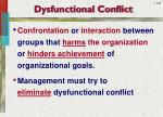 dysfunctional conflict