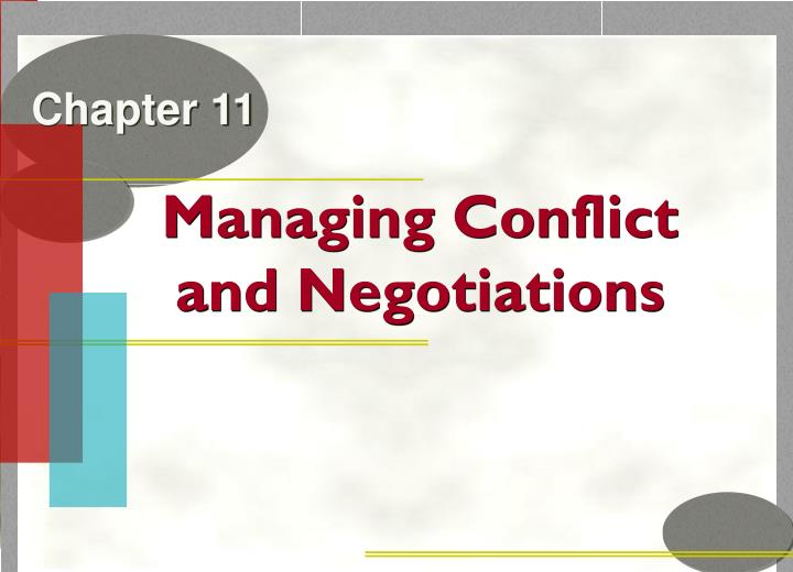 managing conflict and negotiations n.