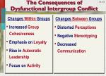 the consequences of dysfunctional intergroup conflict