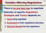 variables affecting negotiations