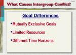 what causes intergroup conflict1