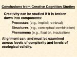 conclusions from creative cognition studies