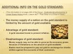 additional info on the gold standard