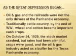 as the great depression began