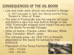 consequences of the oil boom