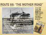 route 66 the mother road1