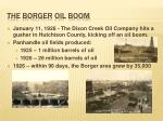 the borger oil boom