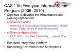 cas 11th five year informatization program 2006 2010
