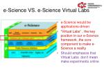 e science vs e science virtual labs