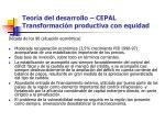 teor a del desarrollo cepal transformaci n productiva con equidad