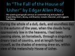 in the fall of the house of usher by edgar allen poe