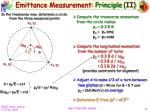 emittance measurement principle ii