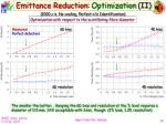 emittance reduction optimization ii