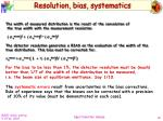 resolution bias systematics